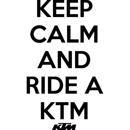 Vinilo decorativo Keep Calm KTM