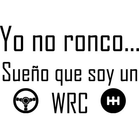 Vinilo cabezal roncar WRC