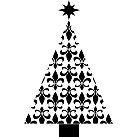 Vinilo árbol navidad antiguo