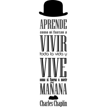 Vinilo frase Chaplin