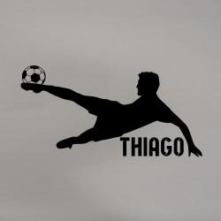 Vinilo futbolista personalizado