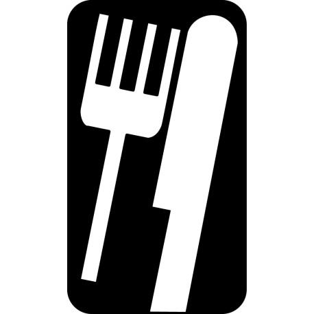 Vinilo cocina cuchillo y tenedor