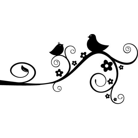 Vinilo decorativo pájaro rama
