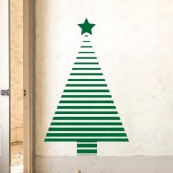 Vinilo árbol navidad líneas