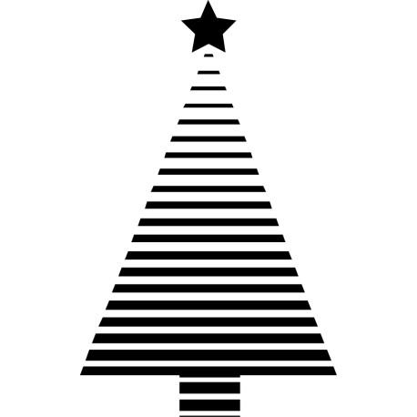 Vinilo decorativo árbol navidad líneas