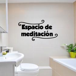 Vinilo espacio meditación