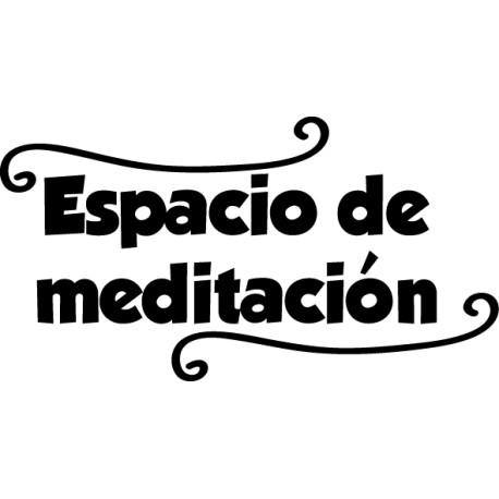 Vinilo decorativo espacio meditación