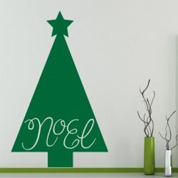 Vinilo árbol Papá Noel