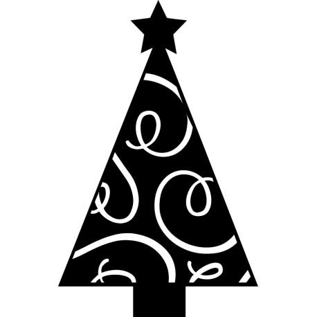 Vinilo navidad árbol decorado