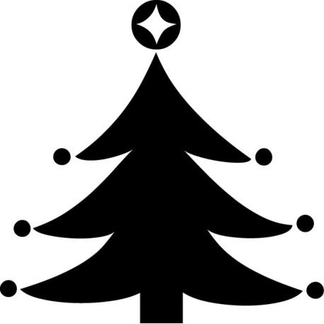Vinilo navidad árbol luces