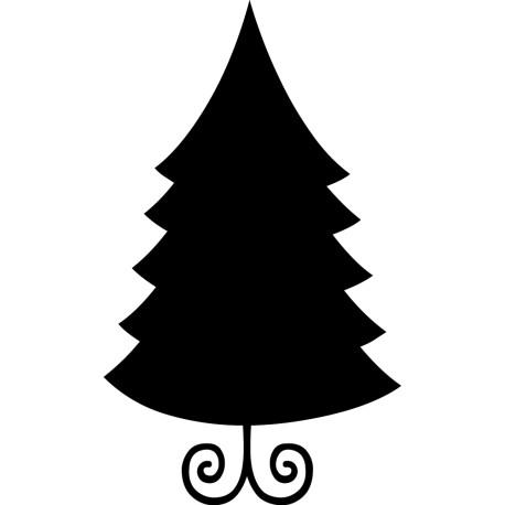 vinilo Pizarra Árbol de Navidad
