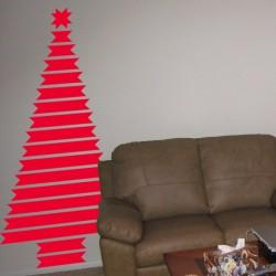 Vinilo Árbol de Navidad cintas