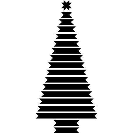 Vinilo decorativo Árbol de Navidad cintas