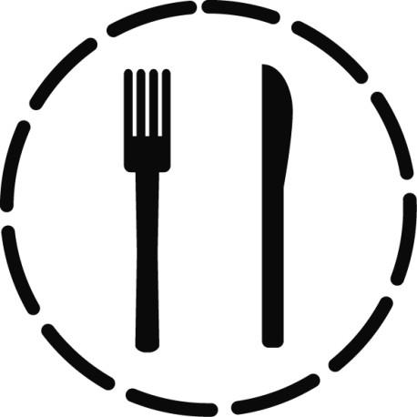 Vinilo círculo restaurante