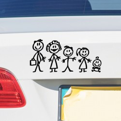 Pegatina familia a bordo bebé
