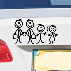 Pegatina familia a bordo padres