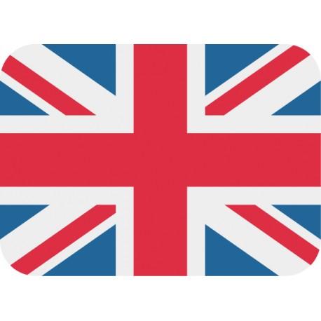 Adhesivo portátil bandera inglesa