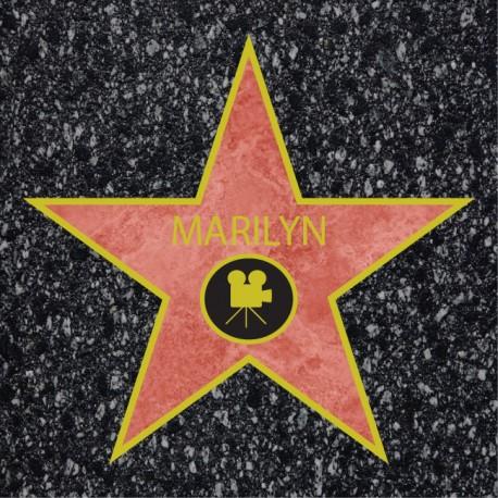 Vinilo estrella Hollywood suelo