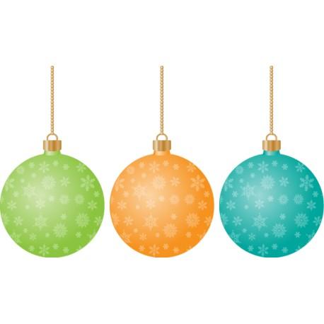 Vinilos bolas de Navidad
