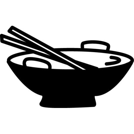 Vinilo plato wok