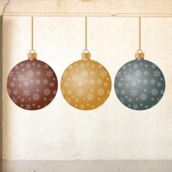 Vinilo bolas navideñas