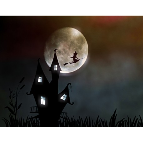Fotomural bruja luna