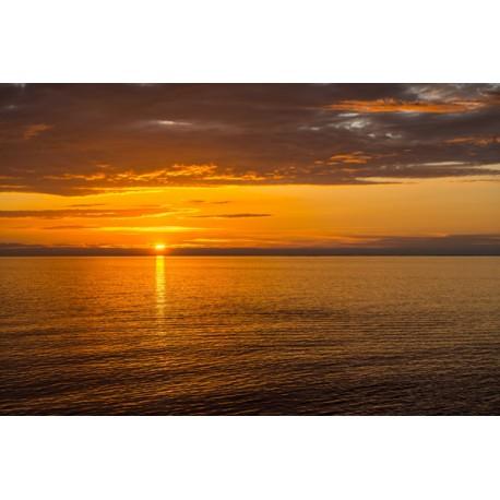 Vinilo fotomural puesta de sol