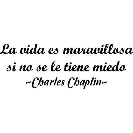 Vinilo frase vida Chaplin