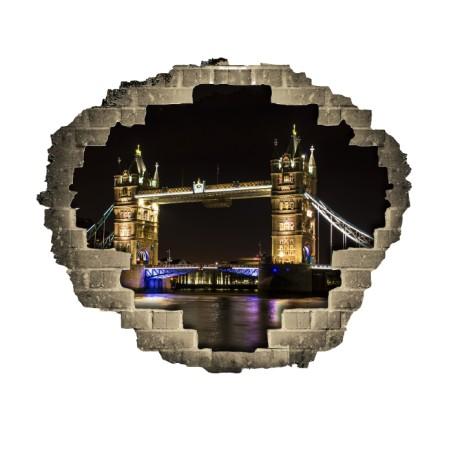 Vinilo agujero pared Londres