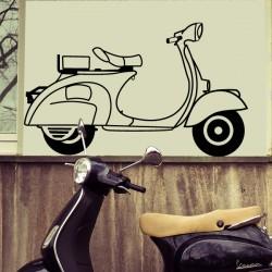 Vinilo silueta scooter