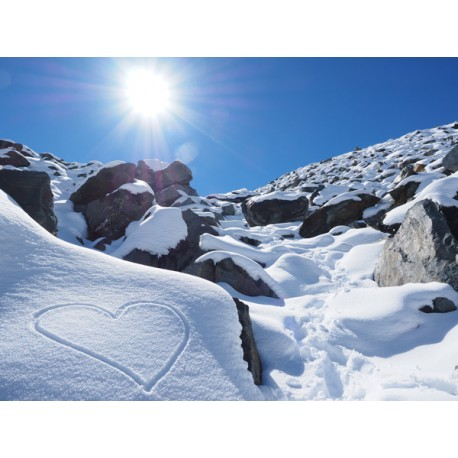 Vinilo corazón nieve
