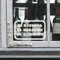 Vinilo derecho de admisión