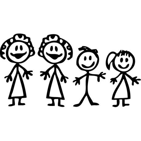 Pegatina familia a bordo madres