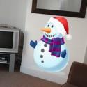 Vinilo muñeco nieve navideño
