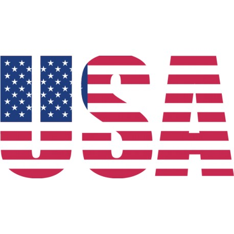 Vinilo texto USA bandera