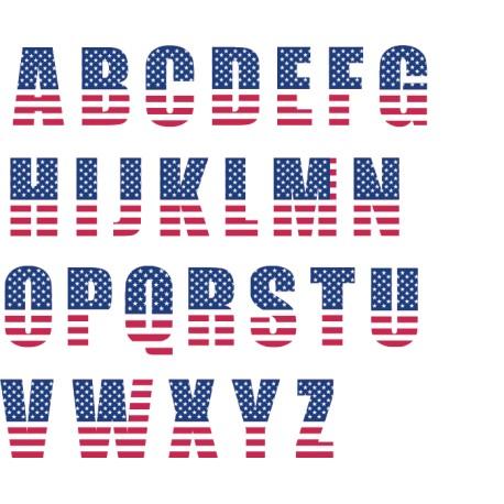 Vinilo abecedario americano