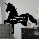 Vinilo pizarra silueta unicornio