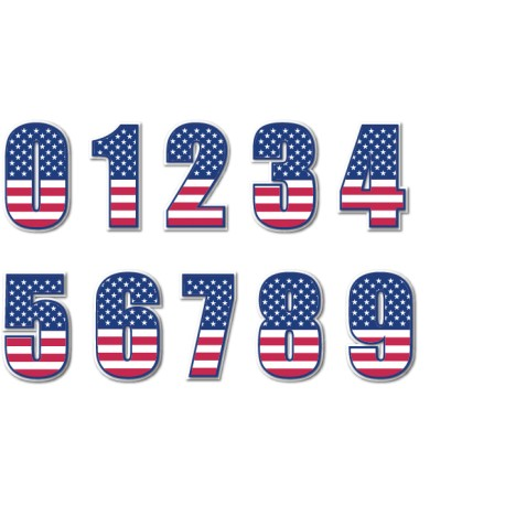Vinilo números americanos