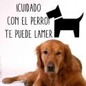 Vinilo cuidado perro