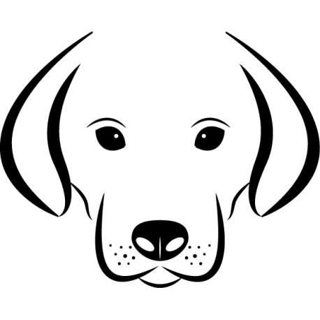 Adhesivo trazo perro