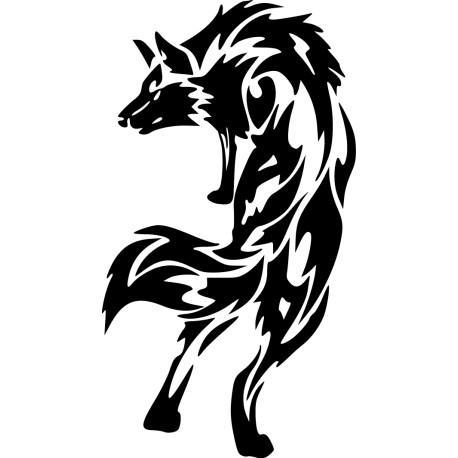 Vinilo lobo abstracto