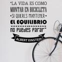 Vinilo bicicleta Einstein
