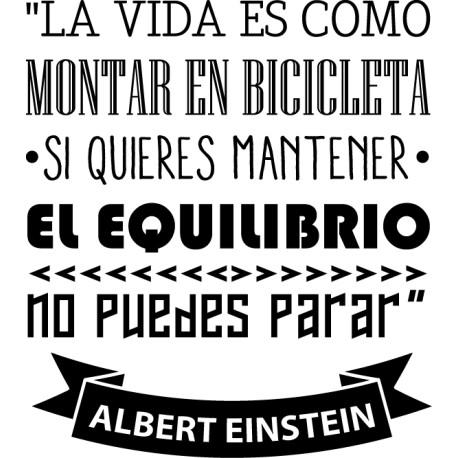 Vinilo frase bicicleta Einstein