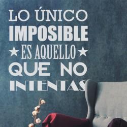 Vinilo frase imposible