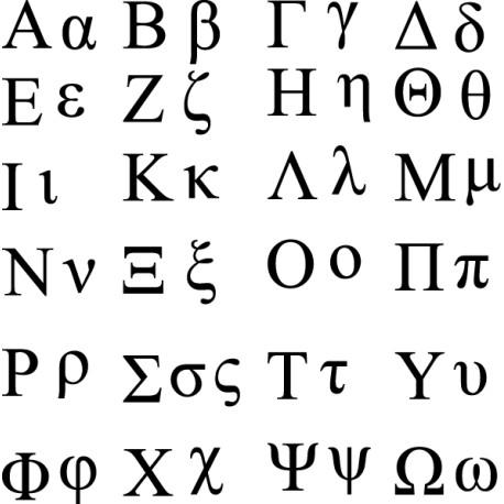 Vinilo Alfabeto griego