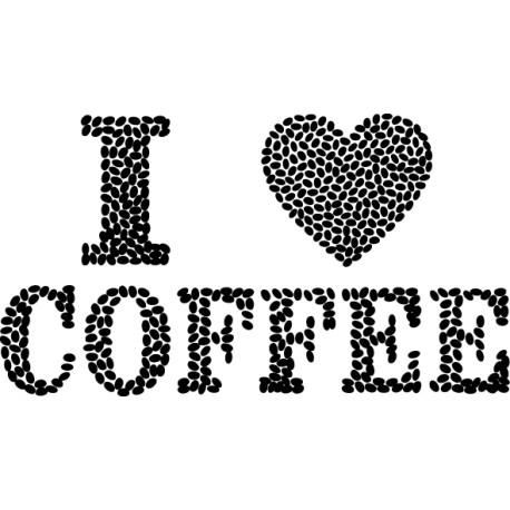 Vinilo cocina I Love Coffee