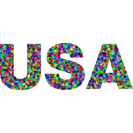 Vinilo texto USA geométrico