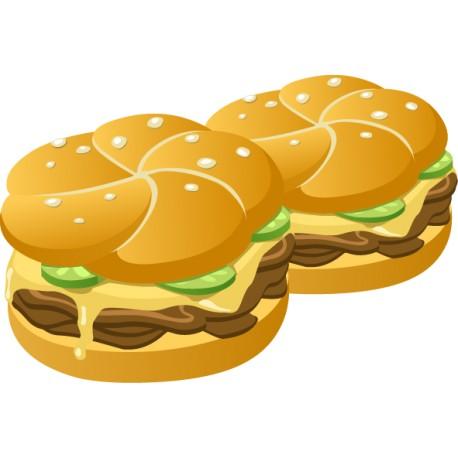 Vinilo cocina hamburguesas