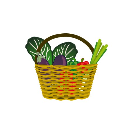 Vinilo cesta hortalizas