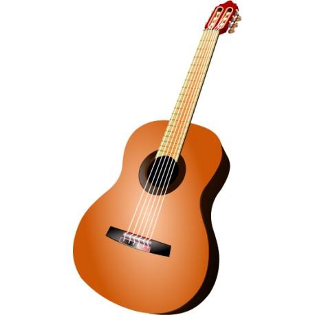 Vinilo musical guitarra